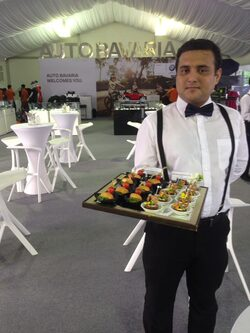 Butler for Auto Bavaria Mega Fair 2016 Bukit Jalil Stadium 23-25 Sept from Canape Catering Malaysia